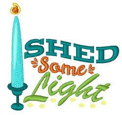 Shed Some Light embroidery design