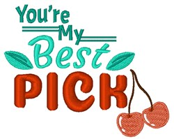 Youre My Best Pick embroidery design