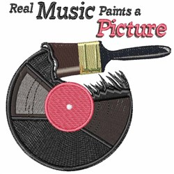 Real Music embroidery design