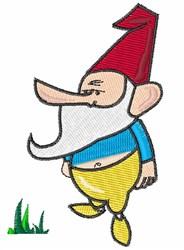 Lawn Gnome embroidery design