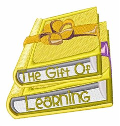 Gift Of Learning embroidery design