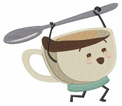 Happy Coffee Cup embroidery design