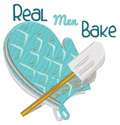 Real Men Bake embroidery design