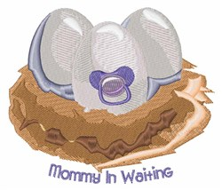 Mommy In Waiting embroidery design