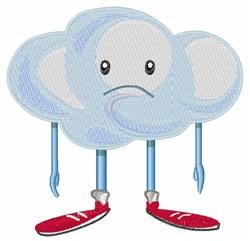 Rain Cloud Person embroidery design
