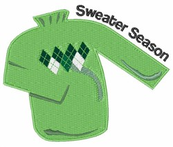Sweater Season embroidery design
