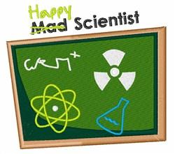 Happy Scientist embroidery design