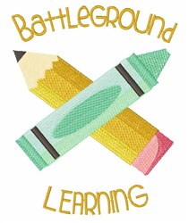 Battleground Learning embroidery design