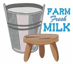 Fresh Milk embroidery design