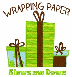 Wrapping Gifts embroidery design