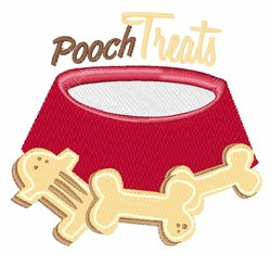 Pooch Treats embroidery design
