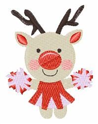 Rudolph Cheerleader embroidery design