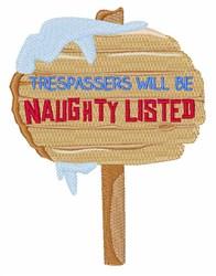 Naughty Trespassers embroidery design