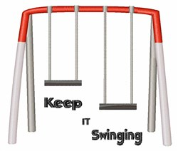 Keep It Swinging embroidery design