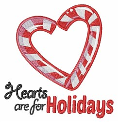 Holiday Hearts embroidery design