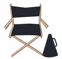 Directors Chair embroidery design