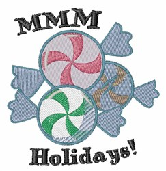 MMM Holidays embroidery design
