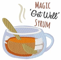 Get Well Syrum embroidery design