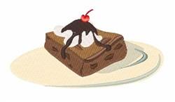 Brownie Dessert embroidery design