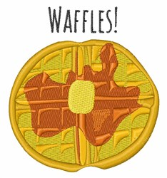 Waffles! embroidery design