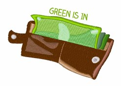 Green is In embroidery design