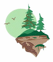 Landscape Mountainside embroidery design