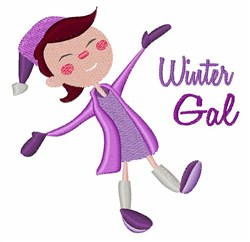 Winter Gal embroidery design
