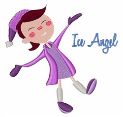 Ice Angel embroidery design