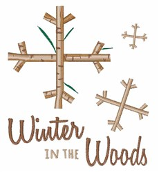 Winter Woods embroidery design