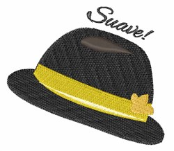 Suave Hat embroidery design