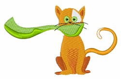Scarf Cat embroidery design