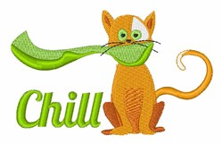 Chill Cat embroidery design