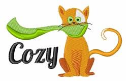 Cozy Cat embroidery design