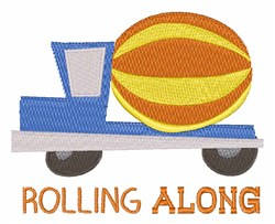 Rolling Along embroidery design