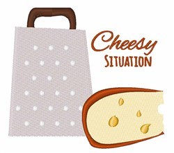 Cheesy Situation embroidery design