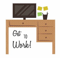 Go to Work embroidery design