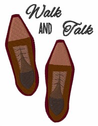 Walk and Talk embroidery design