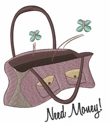 Need Money embroidery design