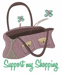 Support My Shopping embroidery design