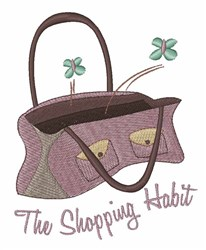 Shopping Habit embroidery design