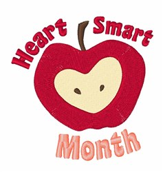 Heart Smart embroidery design