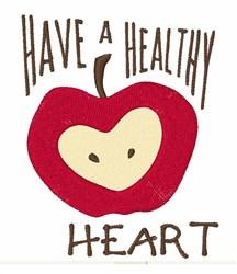 Heathy Heart  embroidery design