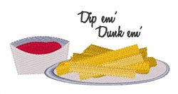 Dip Dunk embroidery design
