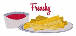 Frenchy Fries embroidery design