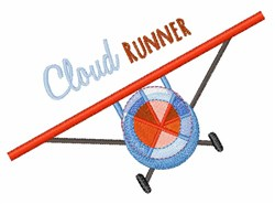 Cloud Runner embroidery design