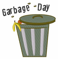 Garbage Day embroidery design