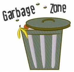 Garbage Zone embroidery design