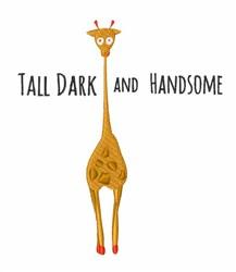 Tall Dark embroidery design