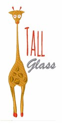 Tall Glass embroidery design