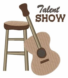 Talent Show embroidery design